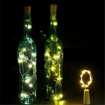 korek butelki String światło
