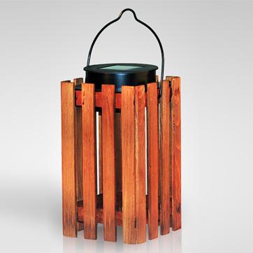 światło słoneczne drewniane latarnia